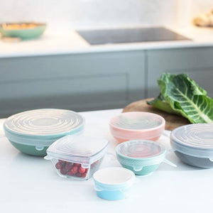 Reusable Silicon stretch Lids | Pack of 6