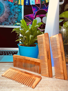4 piece Eco-Friendly Neem Wood Combs set