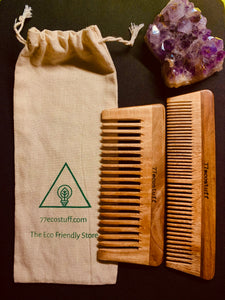 Combo Pack Eco-Friendly Neem Wood Combs