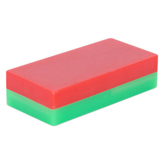 Ferrite Block Magnet - 52mm x 25mm x 12.7mm (Plastic case South/Red North/Green)