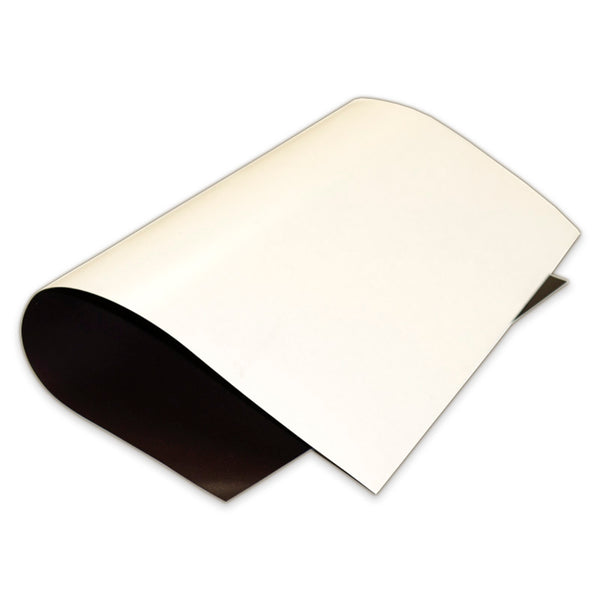 Magnetic Sheeting with Double Sided Magnetism - White - 1m x 620mm x 0.5mm PER METRE