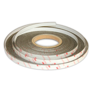 Self-Adhesive White Non-Magnetic Steel Tape | 12.5mm x 1mm | 30m ROLL