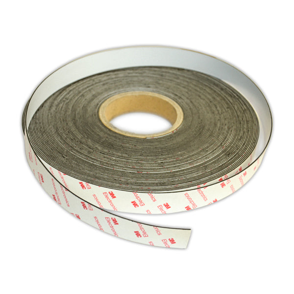 Self-Adhesive White Non-Magnetic Steel Tape | 25mm x 1mm | 30m ROLL