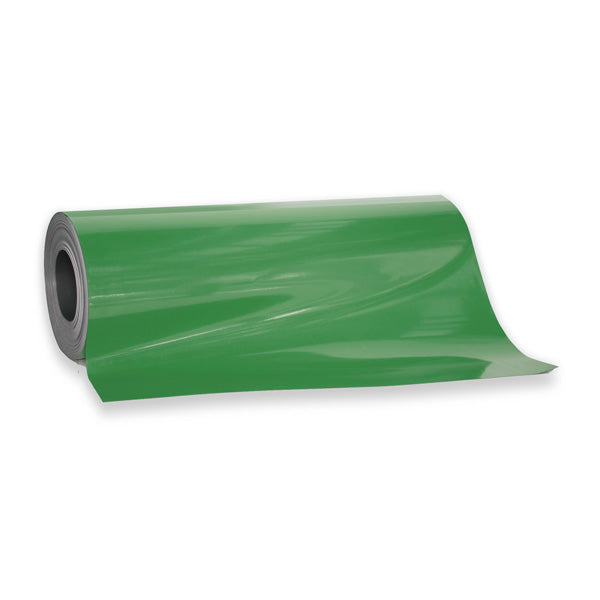 Magnetic Sheeting in Green - for sale by the metre at AMF Magnetics