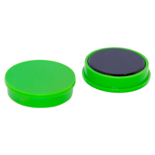 Ferrite Whiteboard Button Magnet 30mm x 7mm - Green