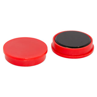 Ferrite Whiteboard Button Magnet 30mm x 10mm - Red
