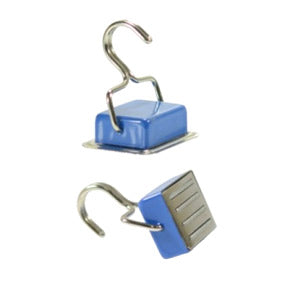 Ferrite Holding Magnet with Hook (Blue)