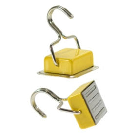 Ferrite Holding Magnet with Hook (Yellow)