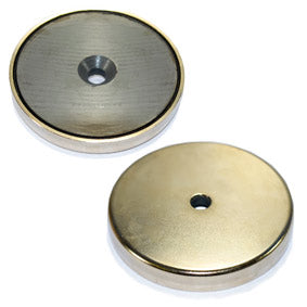 Ferrite Pot Magnet - 90mm x 20mm Countersunk
