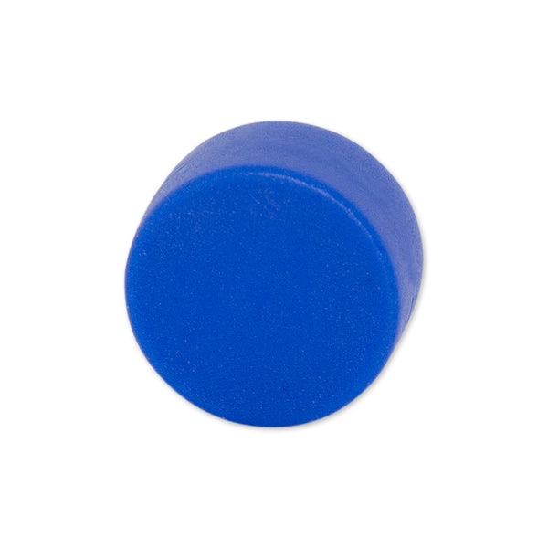 Neodymium Blue Button Magnet - 12.7mm x 6.35mm | Thermoplastic Rubber (TPR) Coated