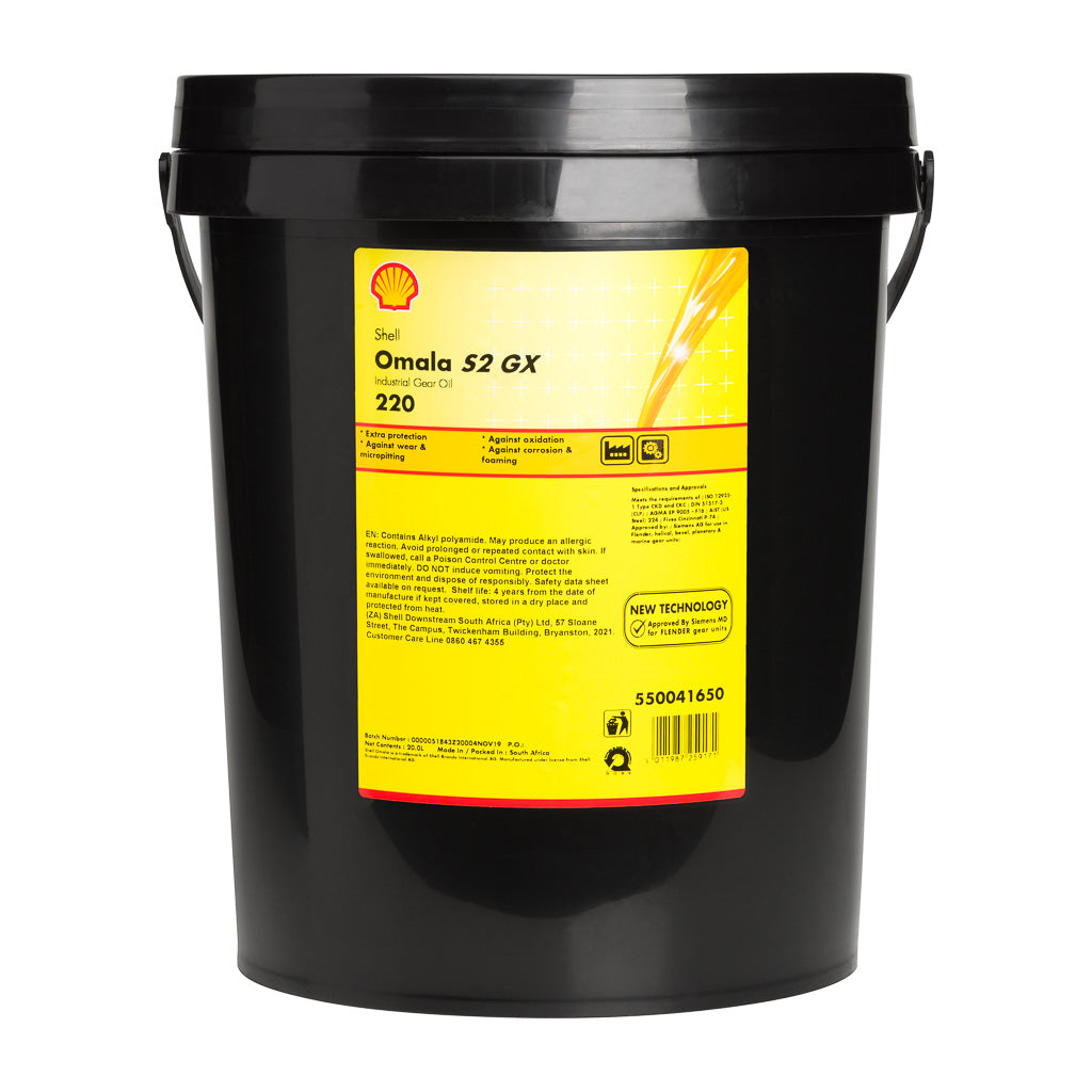Shell Omala S2 GX Industrial Gear Oil 220