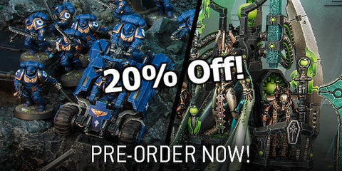 Pre-order new necrons and spacemarines