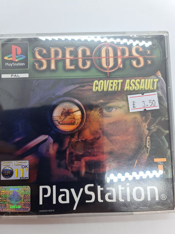 PlayStation game Spec ops: Covert Assault