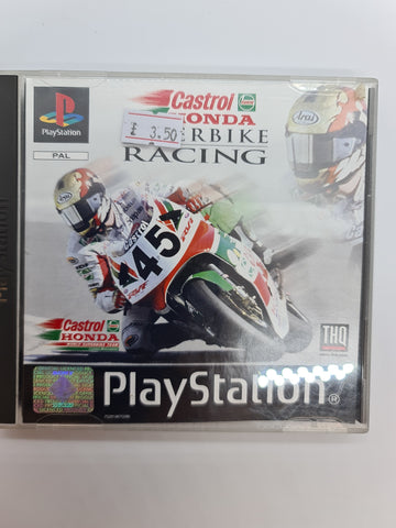PlayStation game Castrol Honda Superbikes Racing