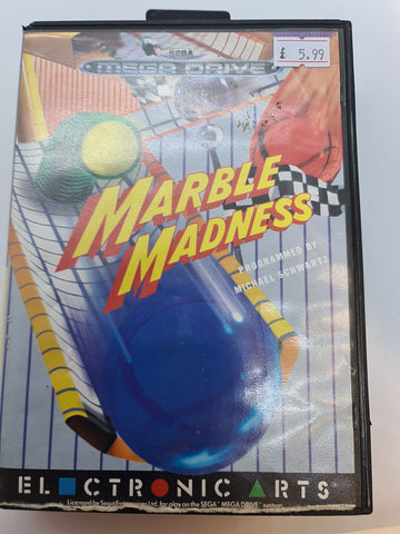 Mega Drive Game Marble Madness