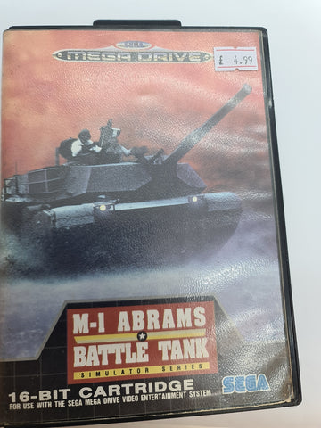 Mega Drive Game Abrams Battle Tank