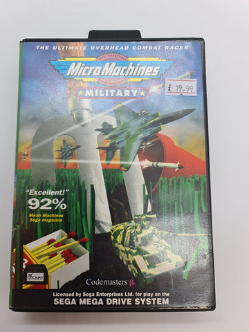 Mega Drive Game Micro Machines Military