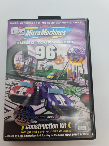 Mega Drive Game Micro Machines Turdo Tournament 96