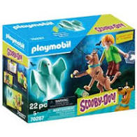 Scooby-Doo! Playmobil Scooby and Shaggy with Ghost Figures