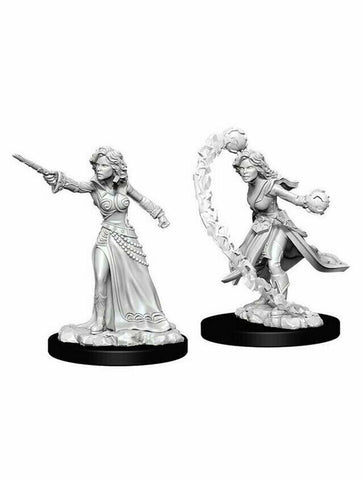 Dungeons and Dragons Battles Deep Cuts Unpainted Miniatures Human Female Wizard