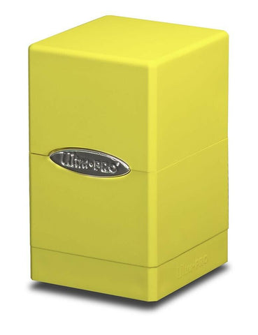 Ultra PRO Yellow Satin Tower Deck Box Storage Protector Holds 100 Standard Cards