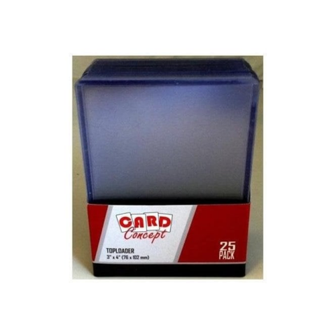 "Card concept  - Toploader - 3 x 4"" Clear Regular 25 per pack IN STOCK ! top loader"