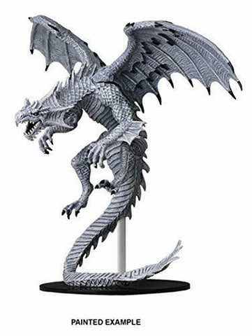 Dungeons & Dragons Monsters and Enemies Unpainted Minis: Gargantuan White Dragon