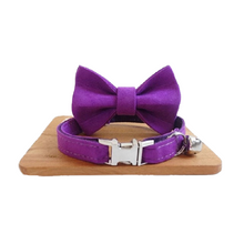 Load image into Gallery viewer, Personalized Bow Tie Small Dog Collar - Bark 'n' Paws