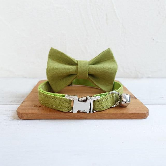 Personalized Bow Tie Small Dog Collar - Bark 'n' Paws