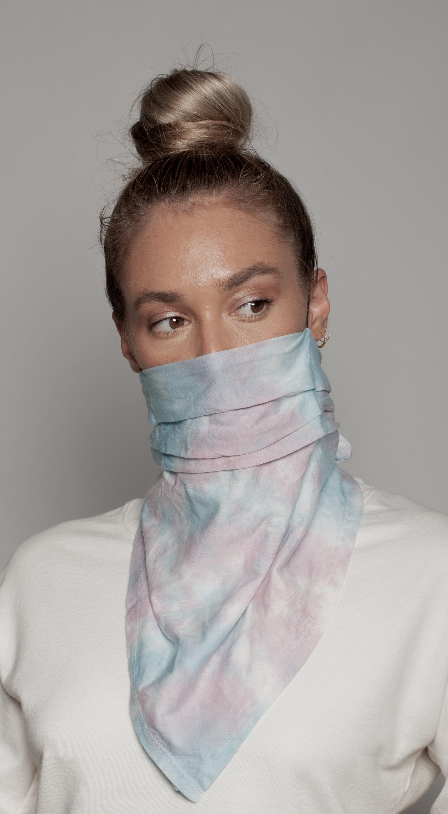 Batik Tye Dye Neck Scarf Dual Purpose Face Covering