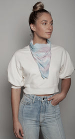 Load image into Gallery viewer, Batik Tye Dye Neck Scarf Dual Purpose Face Covering