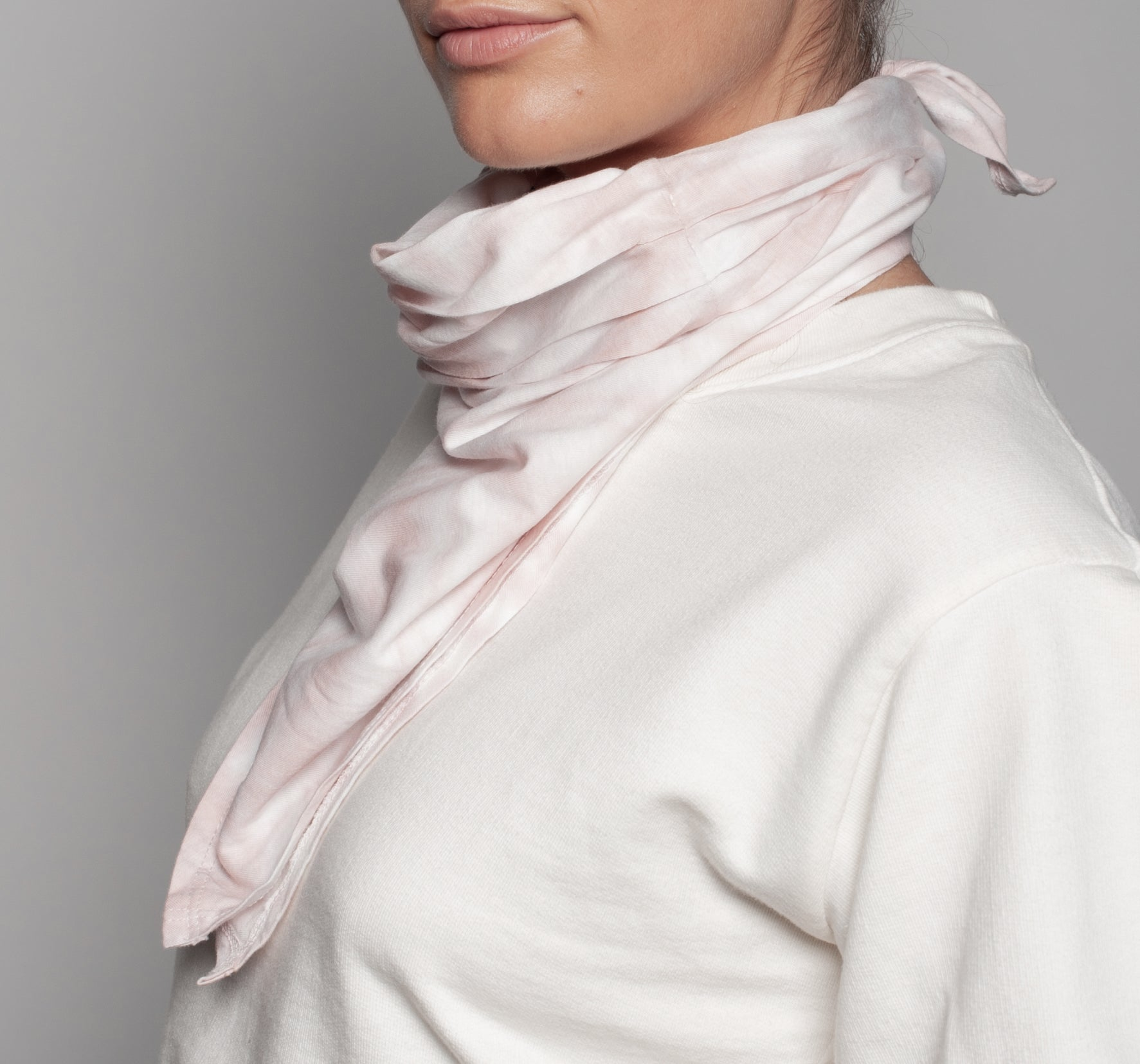 Marble Blush Neck Scarf Dual Purpose Face Covering