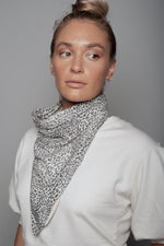 Load image into Gallery viewer, Small Leopard Print Neck Scarf Dual Purpose Face Covering