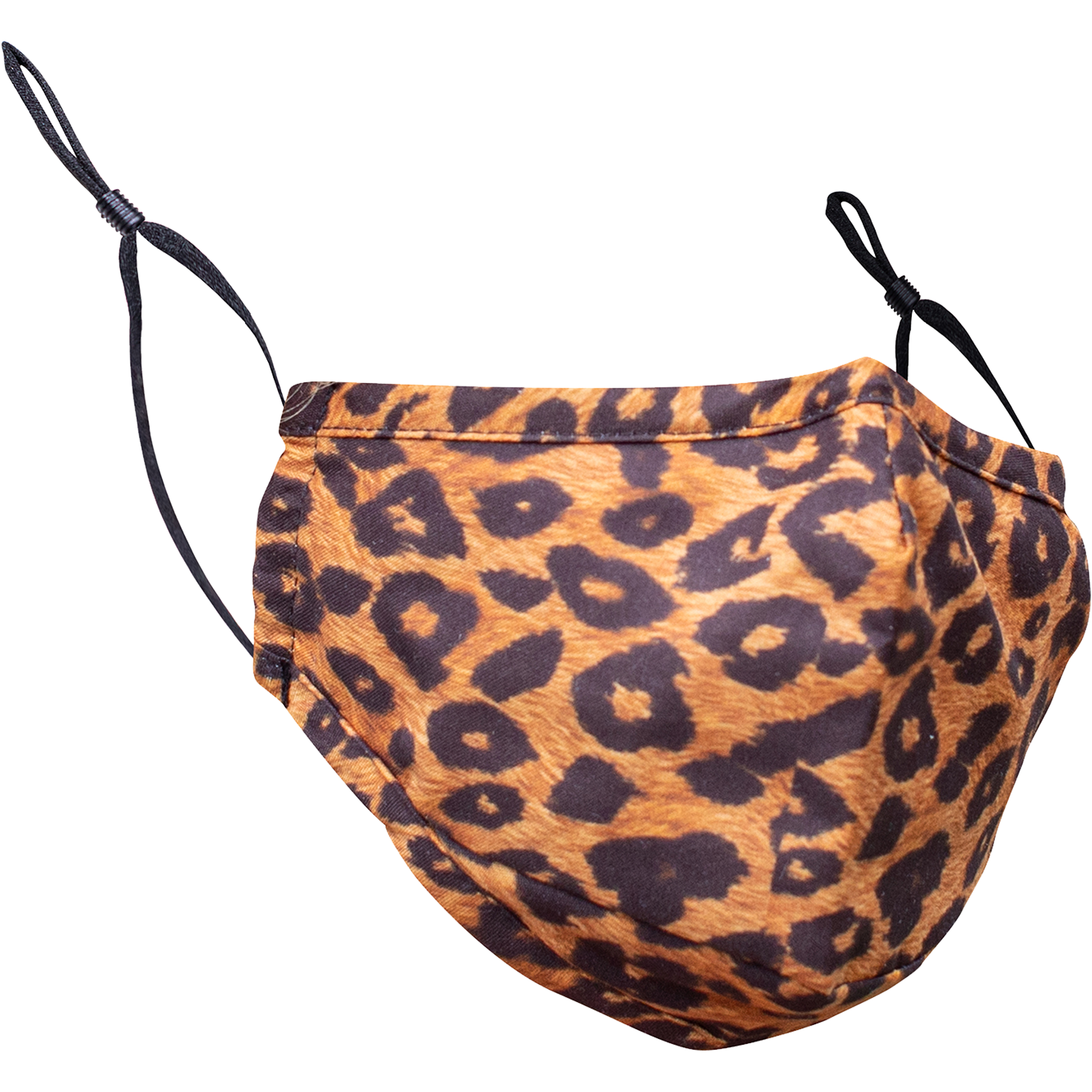 Big Bad Leopard 3-Ply Reusable Fabric Face Masks with Carbon Filter Insert Pocket | Pack of 2