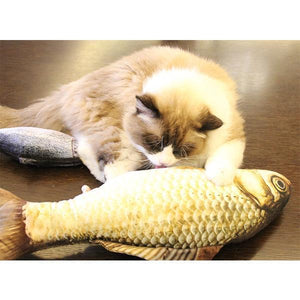 Plush Creative Fish Shape Cat Toy Pet Gifts Catnip Stuffed Pillow