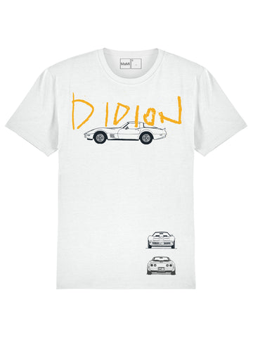 H4, WHITE DIDION, 100% ORGANIC COTTON, UNISEX FIT