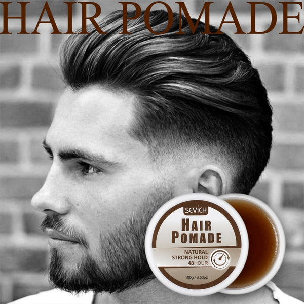 Sevich 48 hours Strong Hold Men's Hair Pomade Smooth Hair Cream Gel Hemp Pomade Salon Hair Style Make Nature Long-Lasting 100g