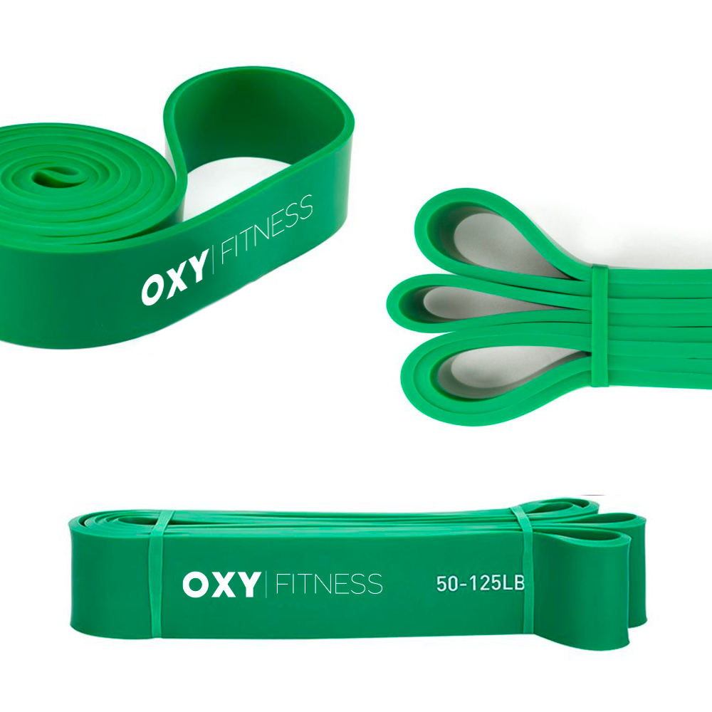 OXY Fitness Training Resistance Band Green (50-125lb)