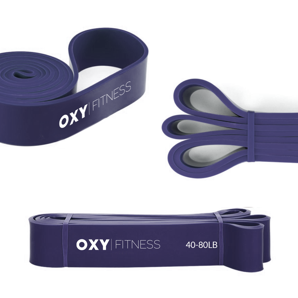 OXY Fitness Training Resistance Band Purple (40-80lb)