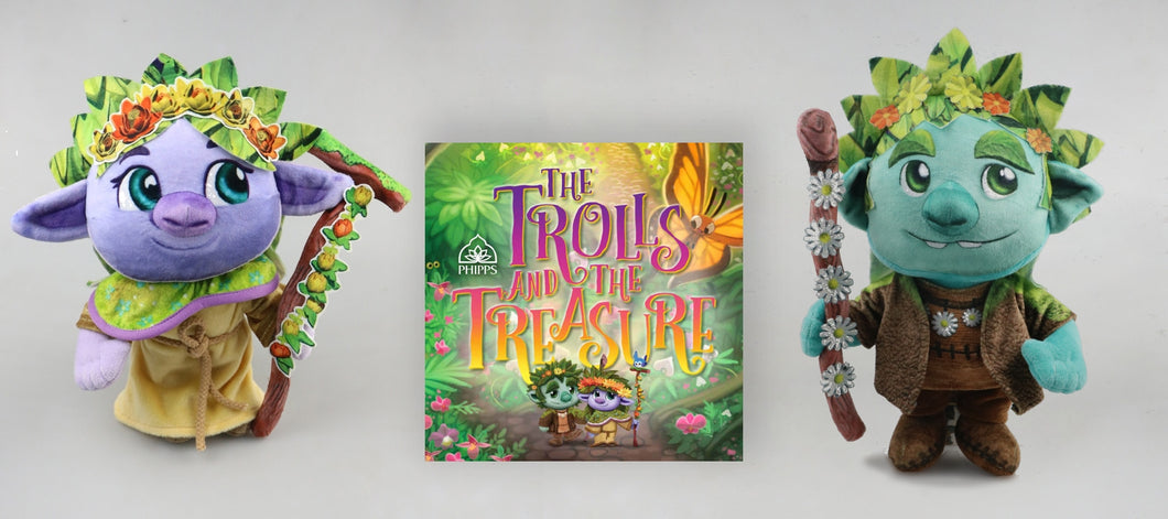 The Hidden Life of Trolls Doll and Book Gift Set
