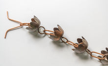 Load image into Gallery viewer, Lily Cup Copper Rain Chain