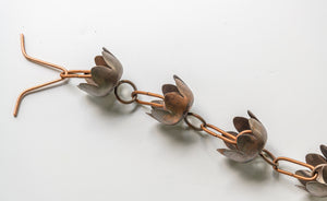Lily Cup Copper Rain Chain