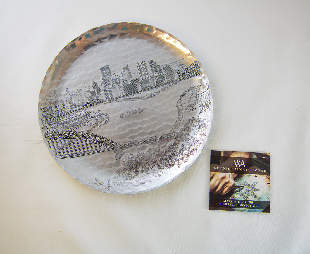 Wendell August Forge Pittsburgh Skyline Plate