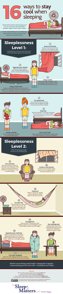 Inspired by Dawn highlights ways to stay cool on summer nights with a Sleep Matters info graphic