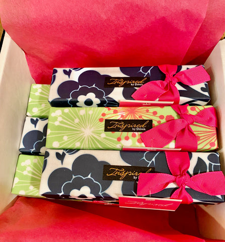 Inspired by Dawn Style Rx designer pill box cases wrapped up and ready for gift giving