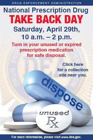 Inspired by Dawn supports the national prescription take back day for safe disposal of medications