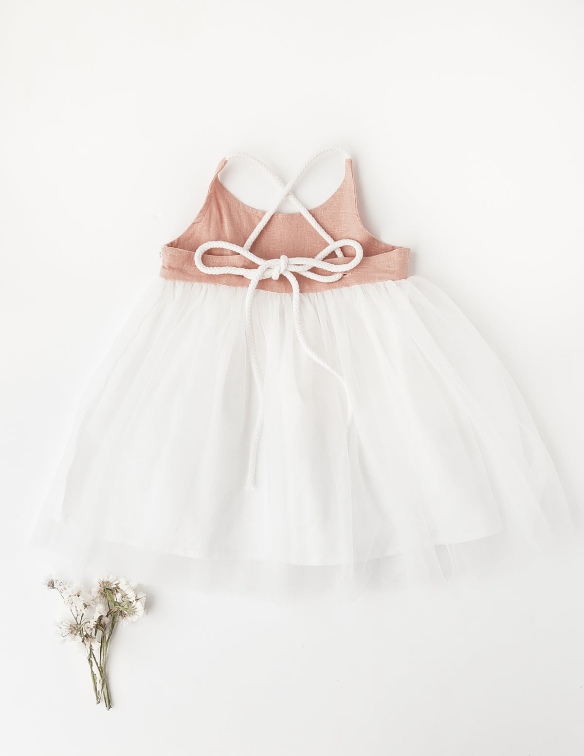 Willa Reversible Linen Tutu Dress In Petal - Garden Edition