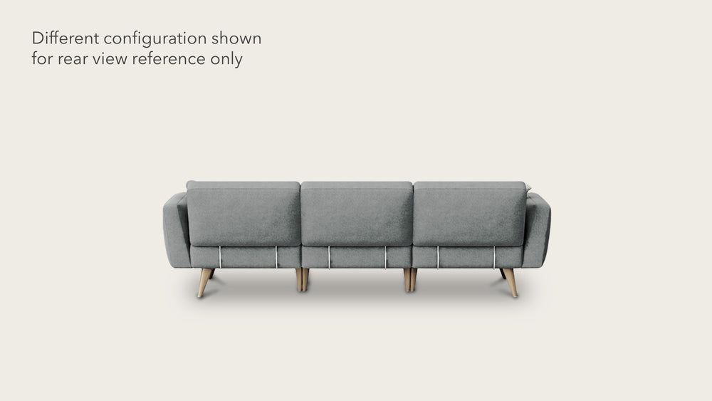 Load image into Gallery viewer, 4 seat modular sofa + ottoman