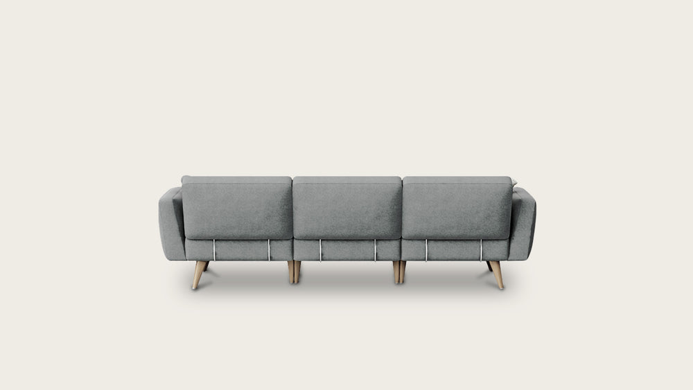 Load image into Gallery viewer, 4 seat modular sofa