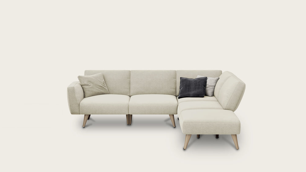 Load image into Gallery viewer, 4 seat modular sofa + ottoman covers